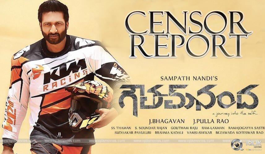 Goutham Nanda Censor Report Details