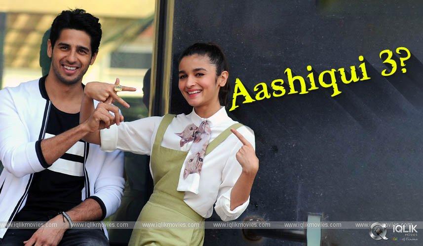Alia Bhatt Siddharth Malhotra Aashiqui 3