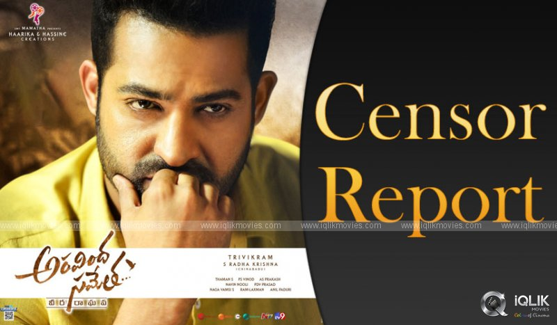 Aravindha Sametha Censor Report