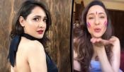 classic beauty pragya jaiswal holi celebrations