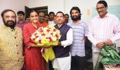 Producer Ashwini Dutt And Nag Ashwini Met PRahlad Joshi