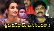 Trisha For Megastar Chiru 152 Movie