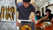 Chiranjeevi Cooking Fish Fry For His Mother
