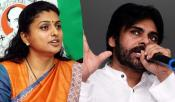 roja comments on pawan kalyan