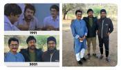 Gangleader Cast Chiranjeevi Murali Mohan Sharat Kumar Reunion